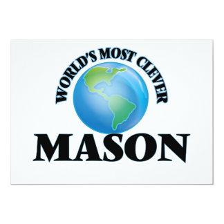World's Most Clever Mason 5x7 Paper Invitation Card