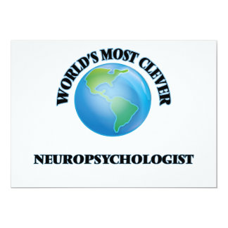 World's Most Clever Neuropsychologist 5x7 Paper Invitation Card