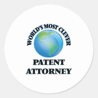 World's Most Clever Patent Attorney Round Sticker