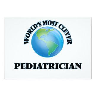 World's Most Clever Pediatrician 5x7 Paper Invitation Card