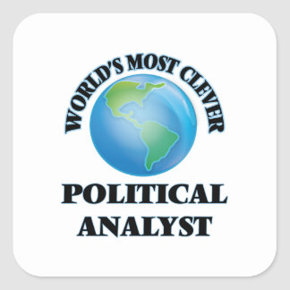 World's Most Clever Political Analyst Square Sticker