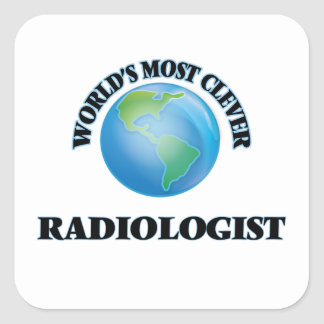 World's Most Clever Radiologist Square Sticker