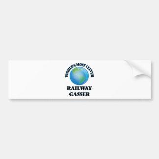 World's Most Clever Railway Gasser Bumper Sticker
