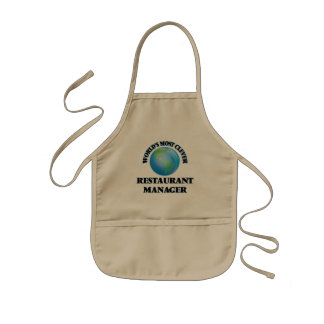 World's Most Clever Restaurant Manager Kids' Apron