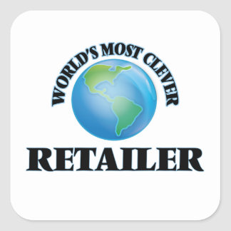 World's Most Clever Retailer Square Sticker