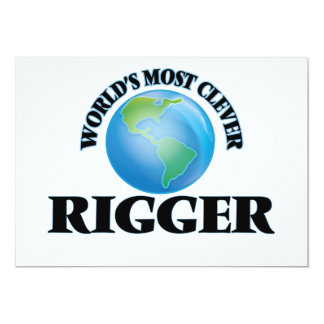 """World's Most Clever Rigger 5"""" X 7"""" Invitation Card"""