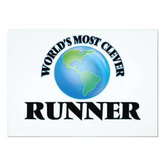 World's Most Clever Runner 5x7 Paper Invitation Card