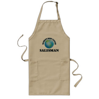 World's Most Clever Salesman Long Apron