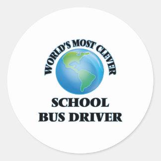 World's Most Clever School Bus Driver Round Sticker