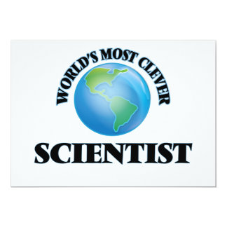 """World's Most Clever Scientist 5"""" X 7"""" Invitation Card"""