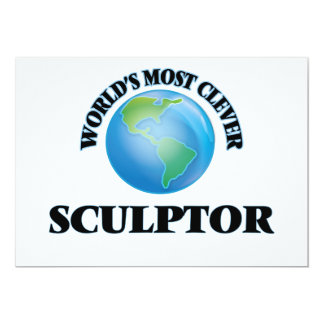 """World's Most Clever Sculptor 5"""" X 7"""" Invitation Card"""