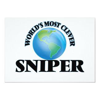 "World's Most Clever Sniper 5"" X 7"" Invitation Card"