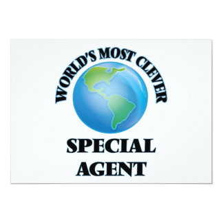 World's Most Clever Special Agent 5x7 Paper Invitation Card