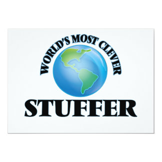 """World's Most Clever Stuffer 5"""" X 7"""" Invitation Card"""