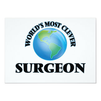 """World's Most Clever Surgeon 5"""" X 7"""" Invitation Card"""