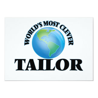 """World's Most Clever Tailor 5"""" X 7"""" Invitation Card"""