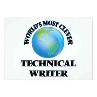 World's Most Clever Technical Writer 5x7 Paper Invitation Card
