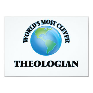 """World's Most Clever Theologian 5"""" X 7"""" Invitation Card"""