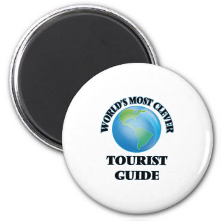 World's Most Clever Tourist Guide 6 Cm Round Magnet
