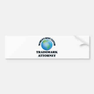 World's Most Clever Trademark Attorney Bumper Stickers