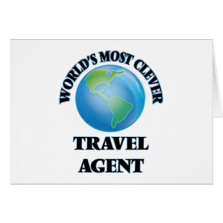 World's Most Clever Travel Agent Greeting Cards
