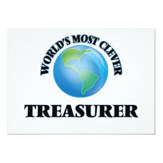 "World's Most Clever Treasurer 5"" X 7"" Invitation Card"