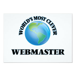 """World's Most Clever Webmaster 5"""" X 7"""" Invitation Card"""