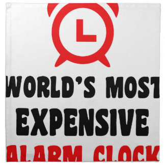 world's most expensive alarm clock napkin