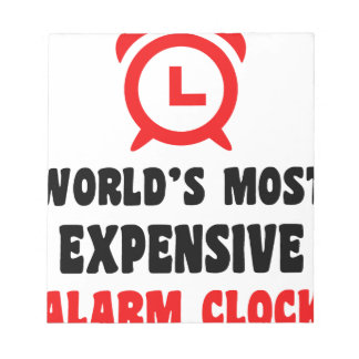 world's most expensive alarm clock notepad