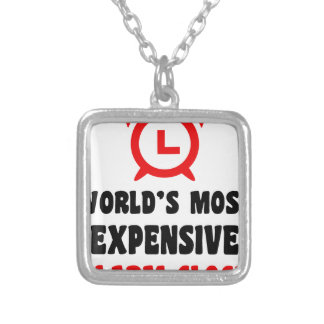 world's most expensive alarm clock silver plated necklace