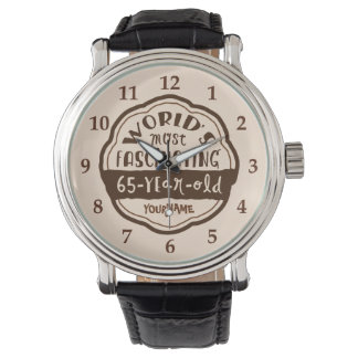 World's Most Fascinating 65-Year-Old Brown Peach Wrist Watch