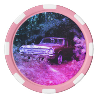 World's Most Haunted Car - The Goldeneagle - 1964 Set Of Poker Chips