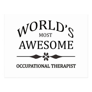 World's Most Occupational Therapist Postcard