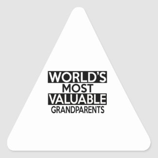 WORLD'S MOST VALUABLE GRANDPARENTS TRIANGLE STICKER