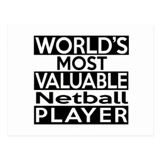 World's Most Valuable Netball Player Postcard