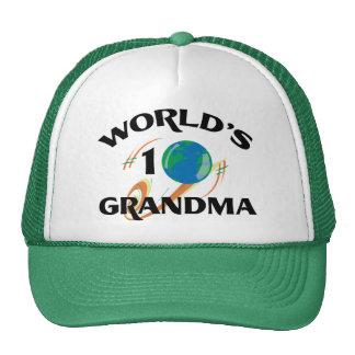 World's Number One Grandma Mesh Hat