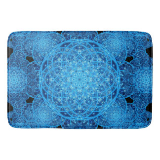 Worlds of Ice Mandala Bath Mats