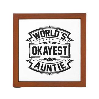 World's Okayest Auntie Desk Organiser