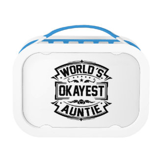 World's Okayest Auntie Lunch Box