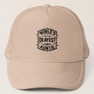 World's Okayest Auntie Trucker Hat