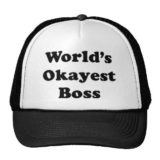 Worlds Okayest Boss Cap