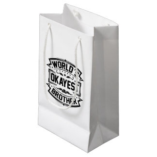 World's Okayest Brother Small Gift Bag
