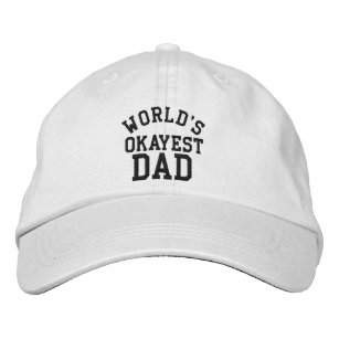 World s Okayest Dad Father s Day Funny hat ... 71a6bea1c3f9