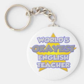 World's Okayest English Teacher .. Joke Key Ring