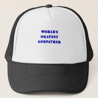 Worlds Okayest Godfather Trucker Hat