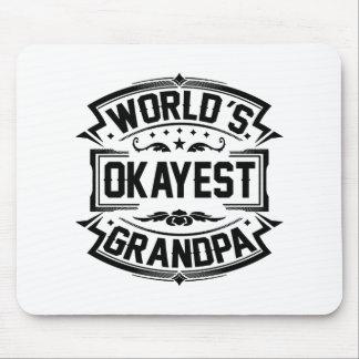 World's Okayest Grandpa Mouse Pad