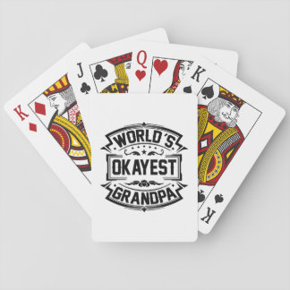 World's Okayest Grandpa Playing Cards