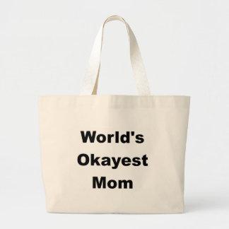 World's Okayest Mom Design Jumbo Tote Bag