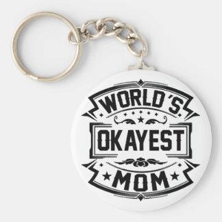 World's Okayest Mom Key Ring