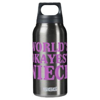 World's Okayest Niece Insulated Water Bottle